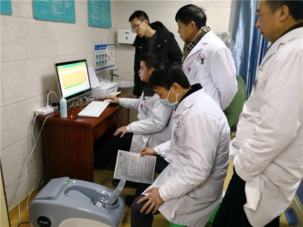OSTEO KJ3000+超声骨密度仪威远县人民医院销售案例